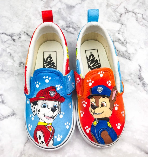 Paw Patrol Painted Shoes | Etsy