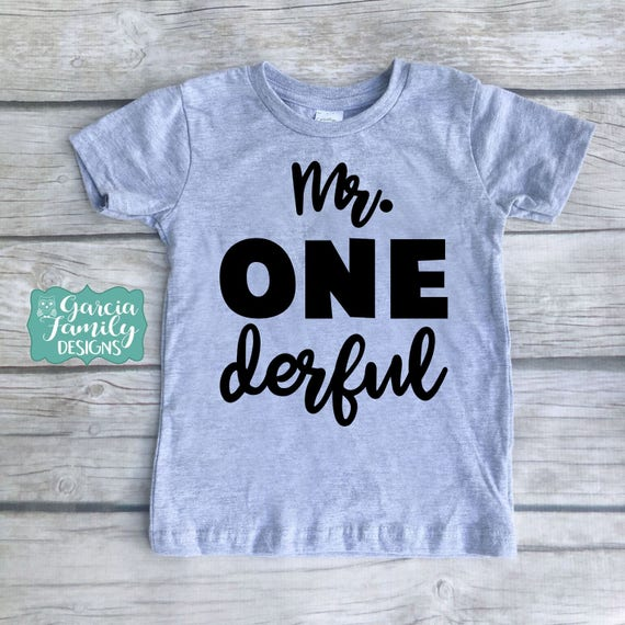 Mr Onederful Grey Birthday ShirtI Am One Shirt