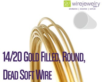 Yellow Gold-Filled Round Wire 14//20 Wire Craft Soft 0.25mm to 3.25mm