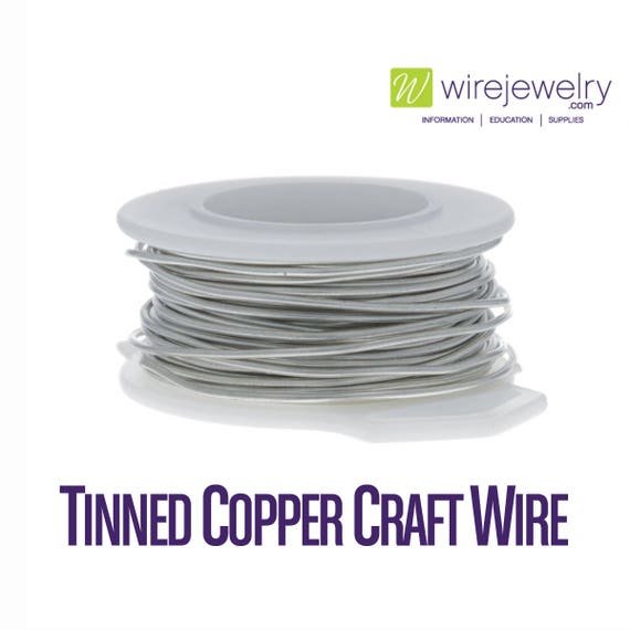 Tinned Copper Craft Wire, Round, Various Gauges and Lengths