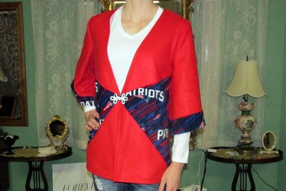 100% authentic b30ef 5a980 Patriots fleece cardigan