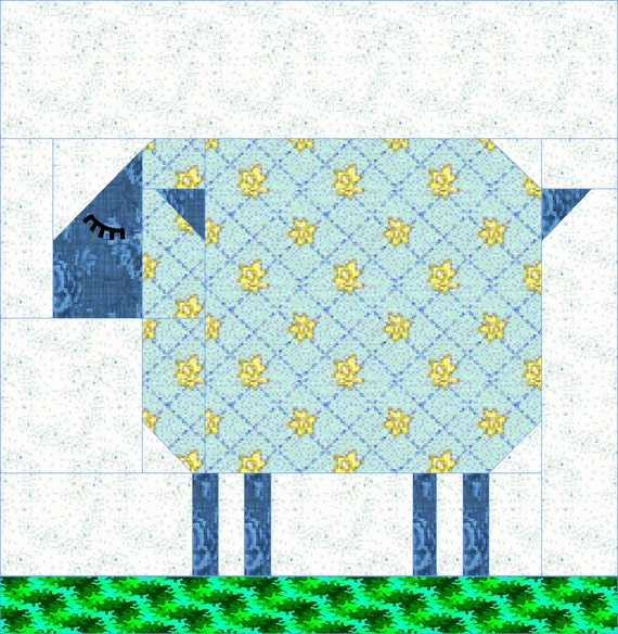 Patch Sheep Quilt Block Pattern Etsy