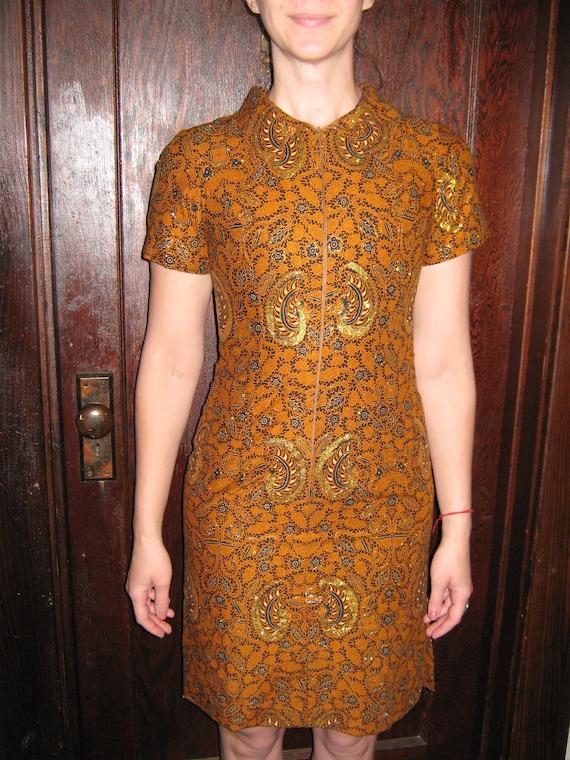 Vintage Oriental Dress, Vintage Dress,