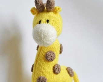 Giraffe Knitting Pattern, Giraffe Knit Pattern, Giraffe Toy Knitting Pattern, Soft Toy Knitting Pattern, Wildlife Knitting Pattern