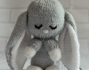 Chocolate bunny knitting pattern easter knitting pattern baby bunny rabbit knitting pattern easter bunny knitting pattern bunny knit baby shower gift easter knit bunny comforter knit pattern negle Images