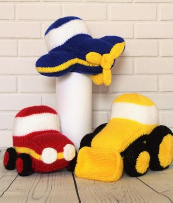 Vehicle Knitting Pattern Toy Car Knitting Pattern Aeroplane | Etsy