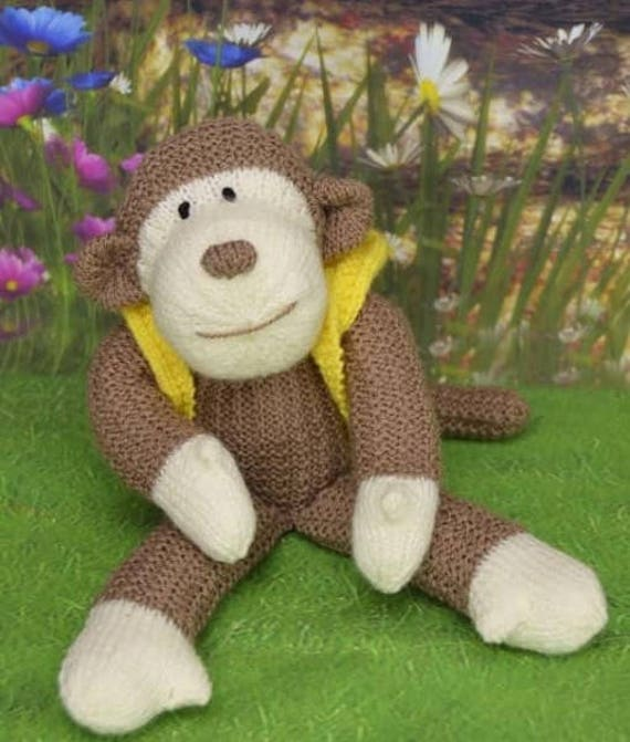 Affe Strickmuster Spielzeug Affe Strickmuster Schimpanse | Etsy