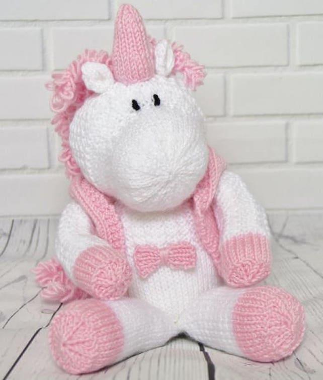 Skylar The Unicorn Knitting Pattern Toy Unicorn Knitting Etsy