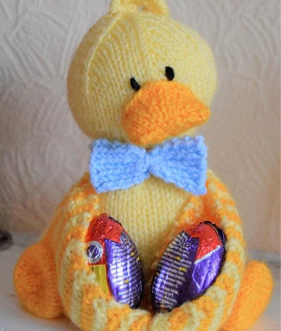 Ostern-Ducky Ei-Halter Strickmuster Ostern Spielzeug