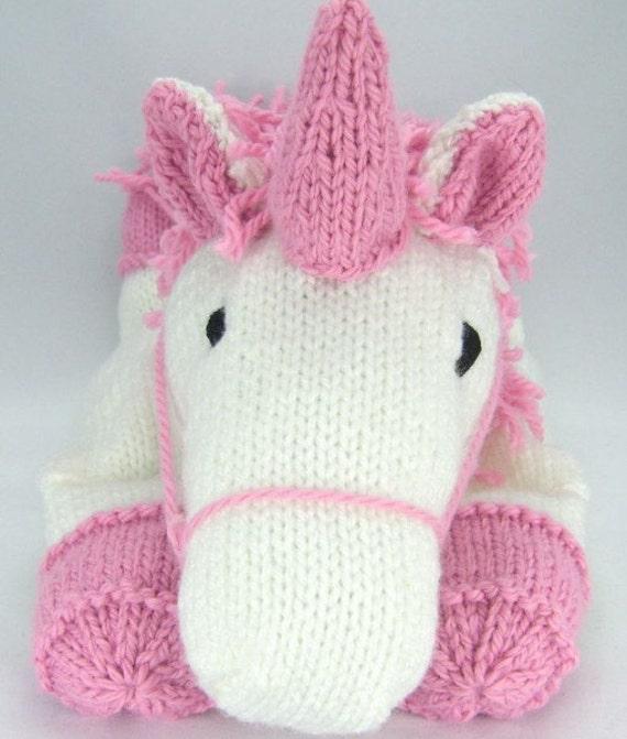 Suki The Unicorn Pyjama Case Knitting Pattern Nightdress Case Etsy