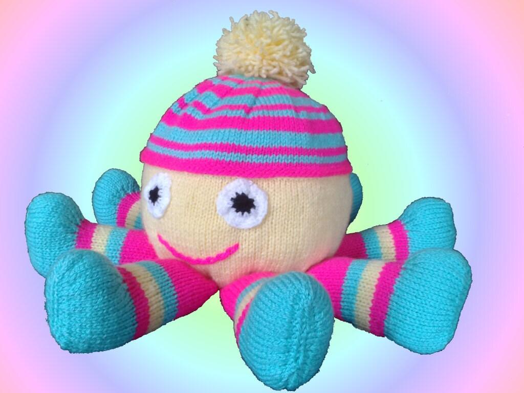 Octopus Knitting Pattern, Octopus Knit Pattern, Soft Toy Knitting ...