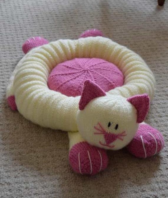Cama del gato tejer patrón cama del animal doméstico que hace | Etsy