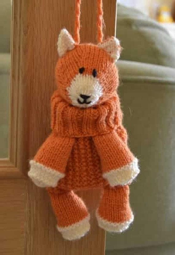 Fox Bag Knitting Pattern Fox Backpack Knitting Pattern Fox Etsy