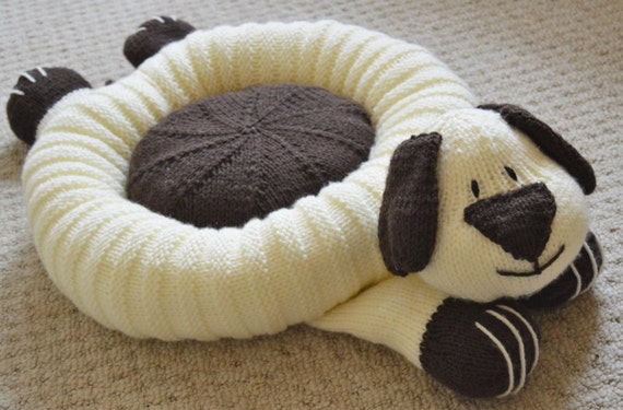 Dog Bed Knitting Pattern Pet Bed Knitting Pattern Dog Etsy