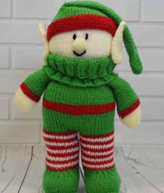 Festliche Freunde Elf Strickmuster Elfe Puppe Muster | Etsy