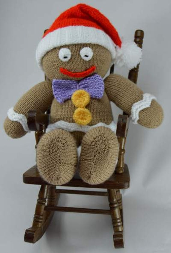 Gingerbread Man Knitting Pattern Christmas Knitting Pattern Etsy