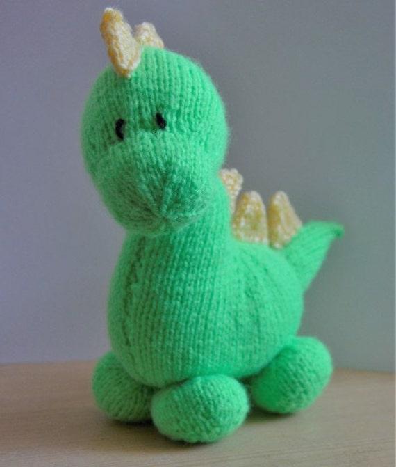 Dinosaurio tejer patrón patrón de punto de juguete | Etsy