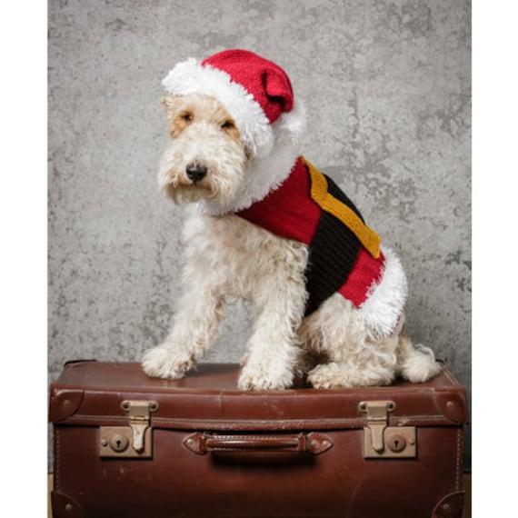 Ähnliche Artikel wie Hundemantel Stricken Muster, Hund Weihnachten ...