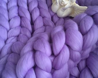 HANDKNIT BLANKET of 18 micron MERINOWOOL baby blanket super soft & warm /Märchenwolle/