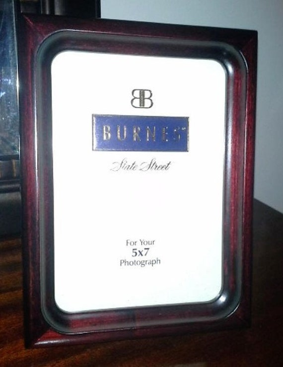Burnes Of Boston State Street Mahogany Frame In Box 5 X 7 Etsy
