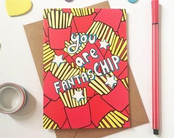 Motivational card - chip lover