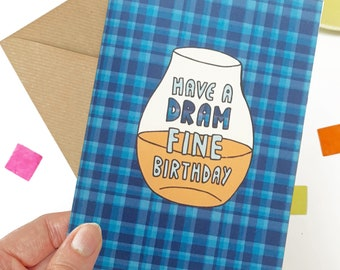 Whisky birthday card for him