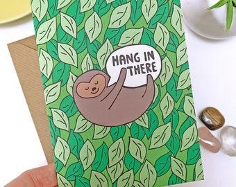 Sloth card, positive vibes