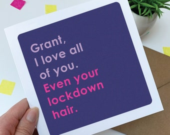 Personalised funny Anniversary card - lockdown