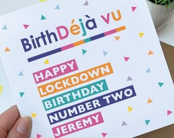 Personalised lockdown birthday card
