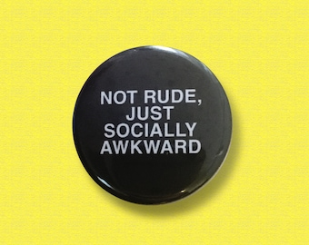 Gift for introverts - socially awkward badge, Introvert, Small badge, Mental health, Socially awkward, Introvert badge, Button badge, Shy