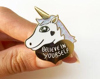 SECONDS Unicorn enamel pin