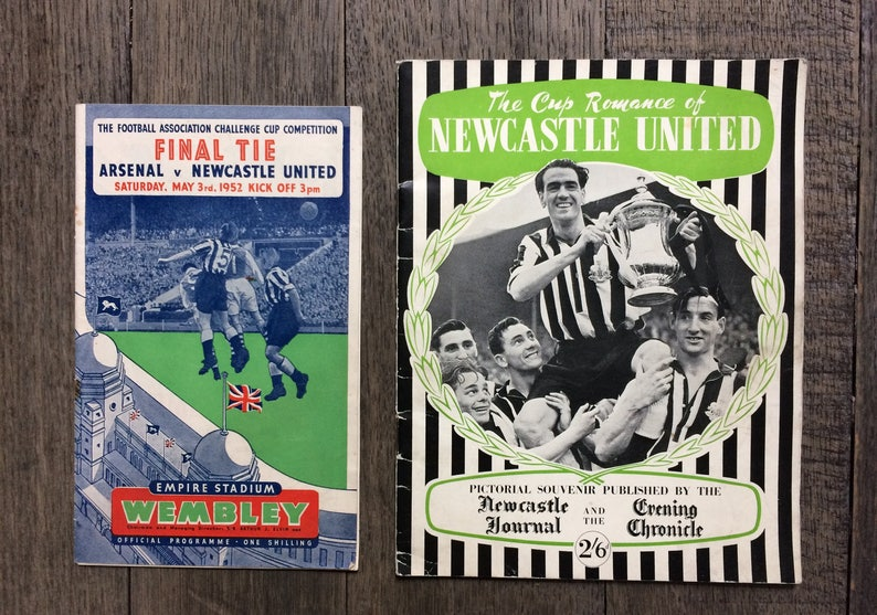 Perfect gift for him 1952 FA Cup Final Arsenal v Newcastle ...