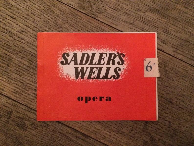 The bartered bride 1948 Opera Sadlers Wells Theatre London Theatre