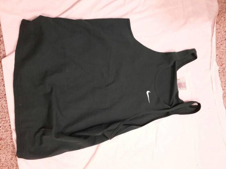 Vintage Nike Tank Top Workout Basketball Tee Shirt L USA Green White Swoosh