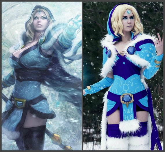 crystal maiden cosplay to order inspired dota 2 crystal etsy
