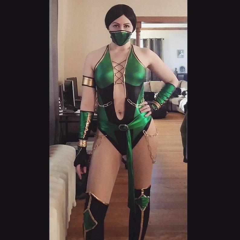 Jade Cosplay Inspired Mortal Kombat 9 Jade Jade Mortal Etsy