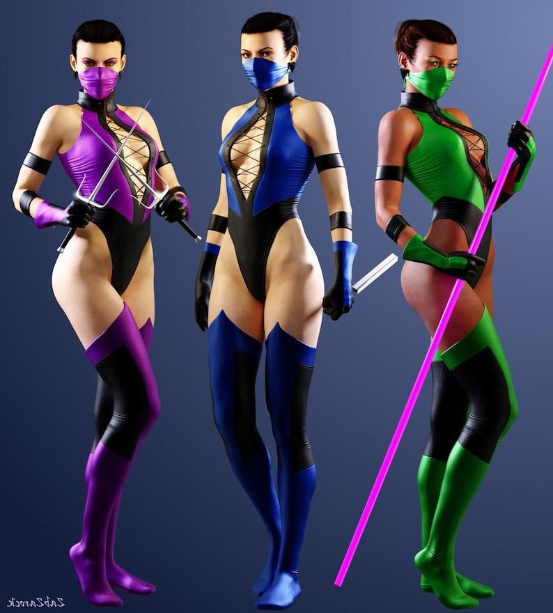 MORTAL KOMBAT 3 Mileena | Kitana | Jade Cosplay costume Pre-order!  (Inspired Mortal Kombat, Mileena, Kitana, Jade, cosplay, woman cosplay)