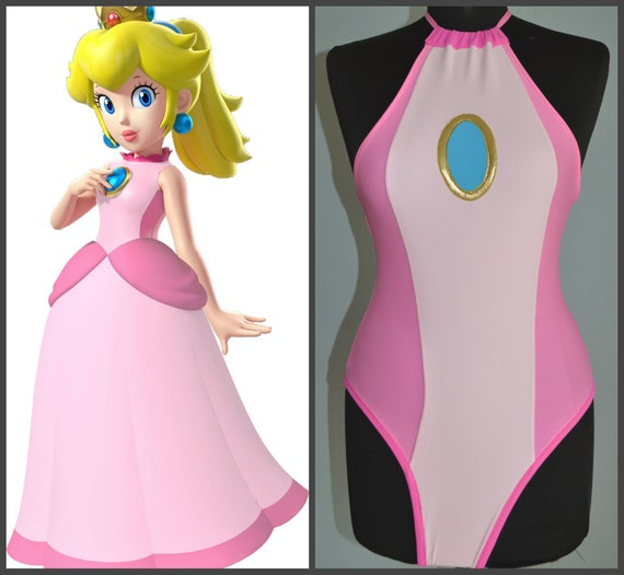 princess peach swimsuit super mario brothers game etsy