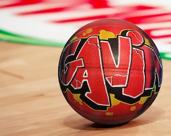 Personalized Basketball - Custom Basketball - Unique and Great Gift for Coach - Airbrush Graffiti Art