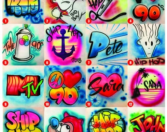 80s and 90s Hoodie Sweatshirt Custom Airbrush Graffiti Hip Hop Clothing Streetwear Old School B-Boy Dance Costume Contest Competition Outfit