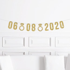Custom Cursive Hashtag Banner  Script Wedding Hashtag Sign  # Bachelorette Decor  Bridal Shower Decorations  Gold Glitter Party Banner