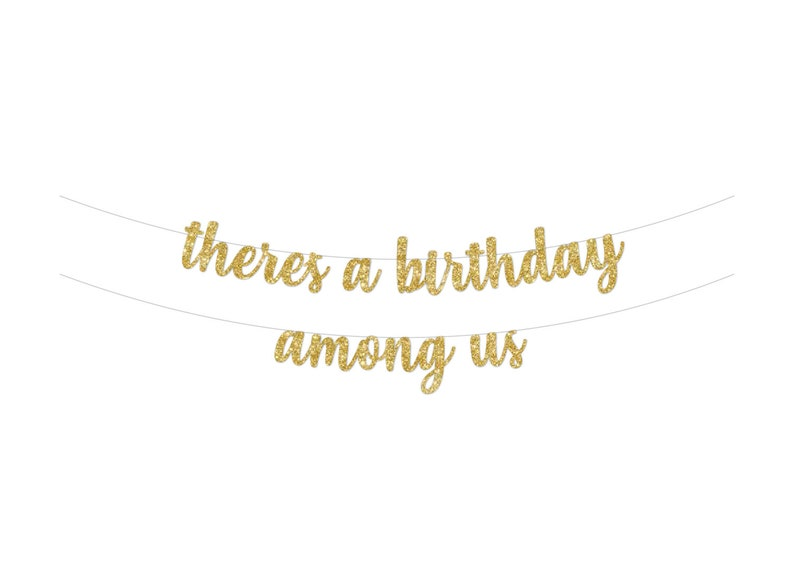 Decor There/'s a Birthday Among Us Among Us Birthday Party Banner Girl Boy Decoration