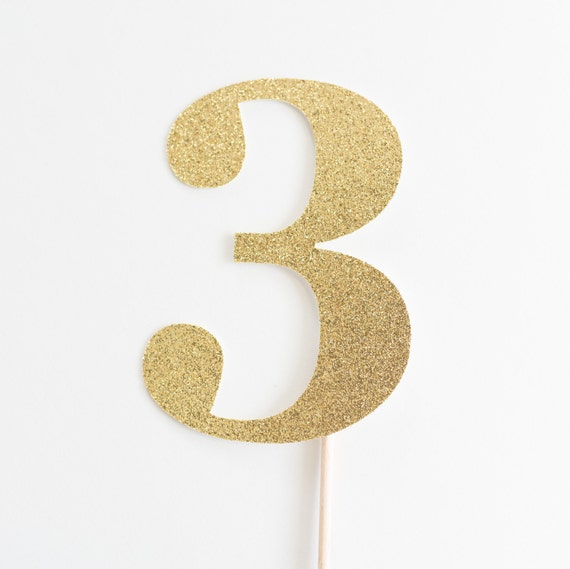 Personalised 3rd Birthday Cake Topper ~ Birthday Decorations ~ Third Birthday ~ 3rdt Birthday Party Accessories ~ # Three Cake Topper