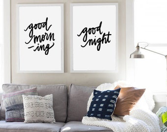 Good Morning Good Night Quote Digital Download Instant Print