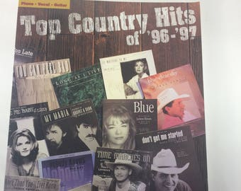 Top Country Hits 1996-97 Wynonna Patty LeAnn Faith 21 Songs Piano Vocal Guitar