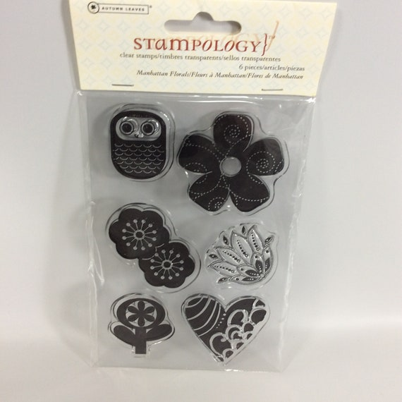 Autumn Leaves Stampology 6 Stamps Manhattan Florals AL3494 Sealed 2009