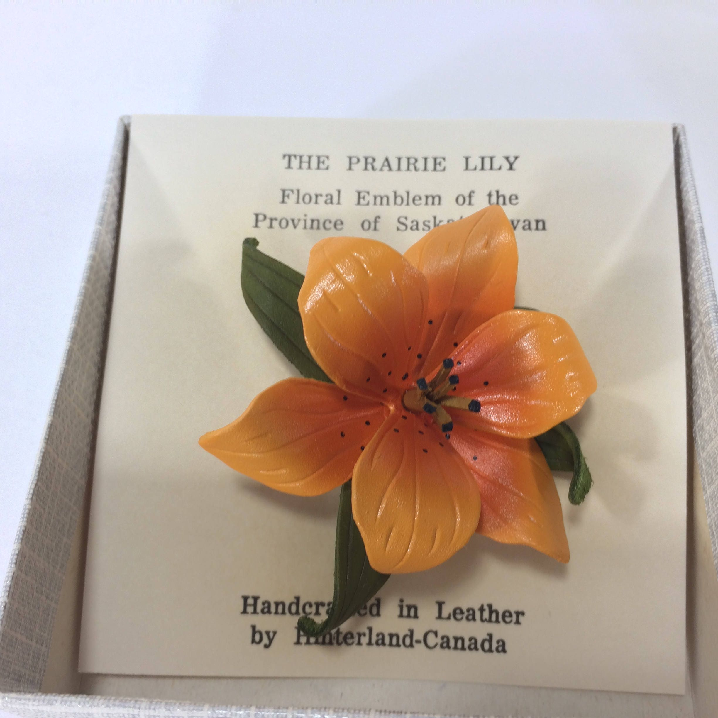 Handcrafted Hinterland Leather Flower Prairie Lily Etsy