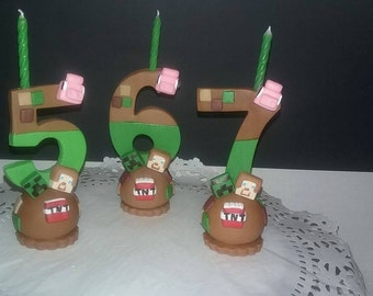 Video games inspired candle numbers