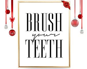 Brush teeth art   Etsy