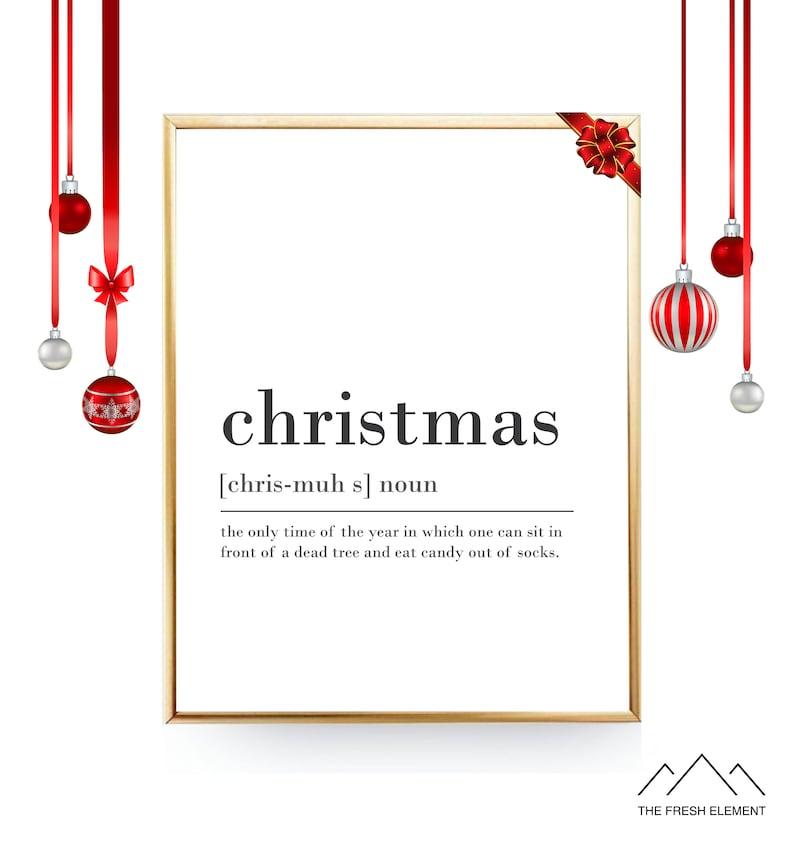 Definition Weihnachten.Weihnachten Kunstdrucke Definition Druck Herunterladbare Drucke Weihnachten Digitaler Download Weihnachten Druckbare Wand Winter Dekor Weihnachten